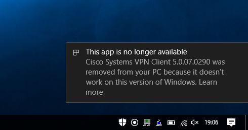 cisco vpn client windows10