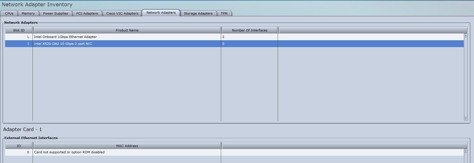 Solved: How to Configure Intel X520 Dual Port c    - Cisco