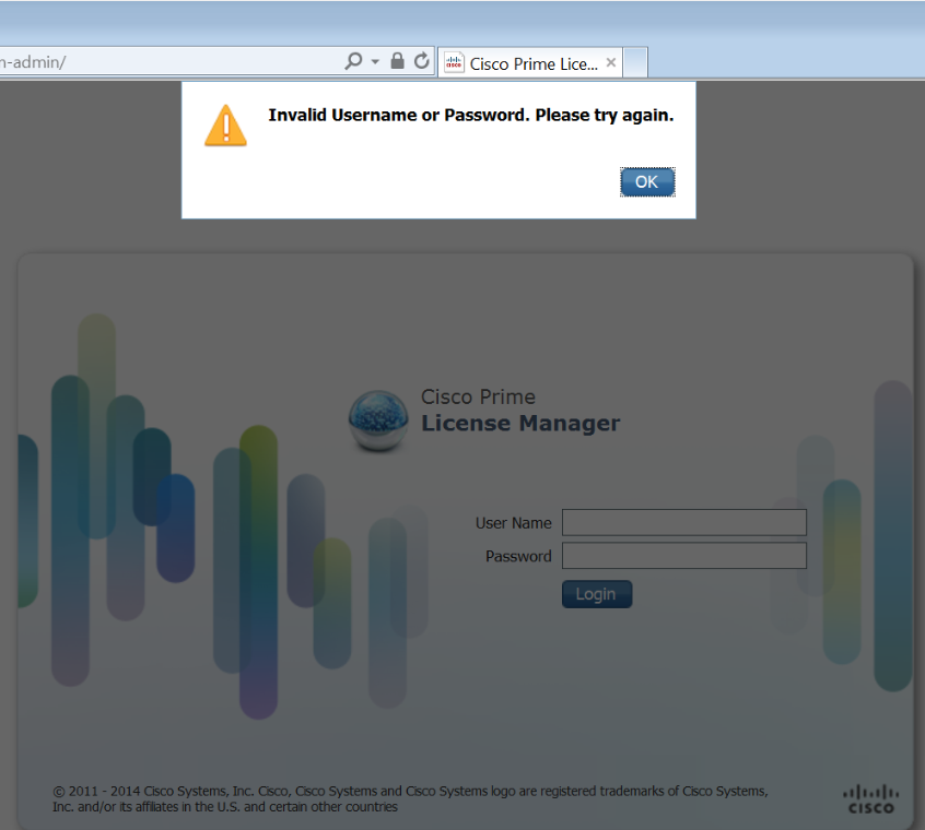 "PLM ""Invalid username or Password"" for some users - Cisco Community"