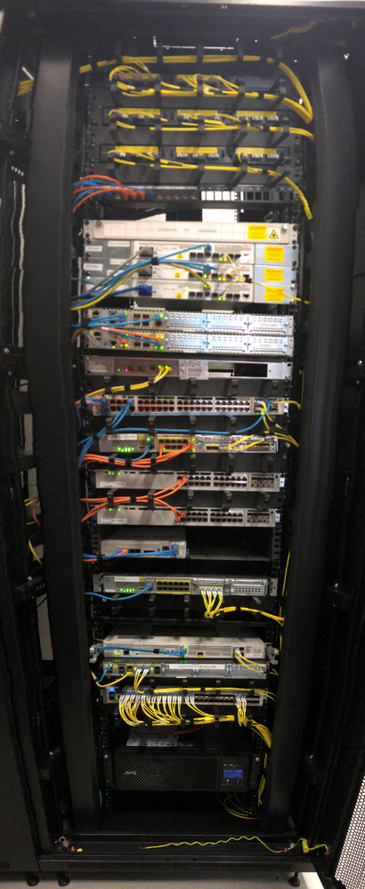 Figure 2 - One of many comms racks containing every imaginable Cisco product