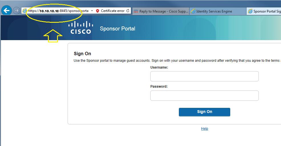 ISE 2 3- Sponsor portal not accessible - Cisco Community