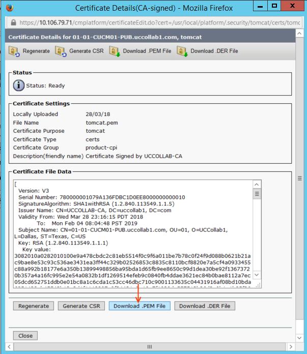 Download CUCm Tomcat Certificate.png