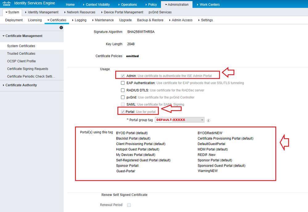 Solved: ISE 2 1 guest portal - certificate requ    - Cisco Community