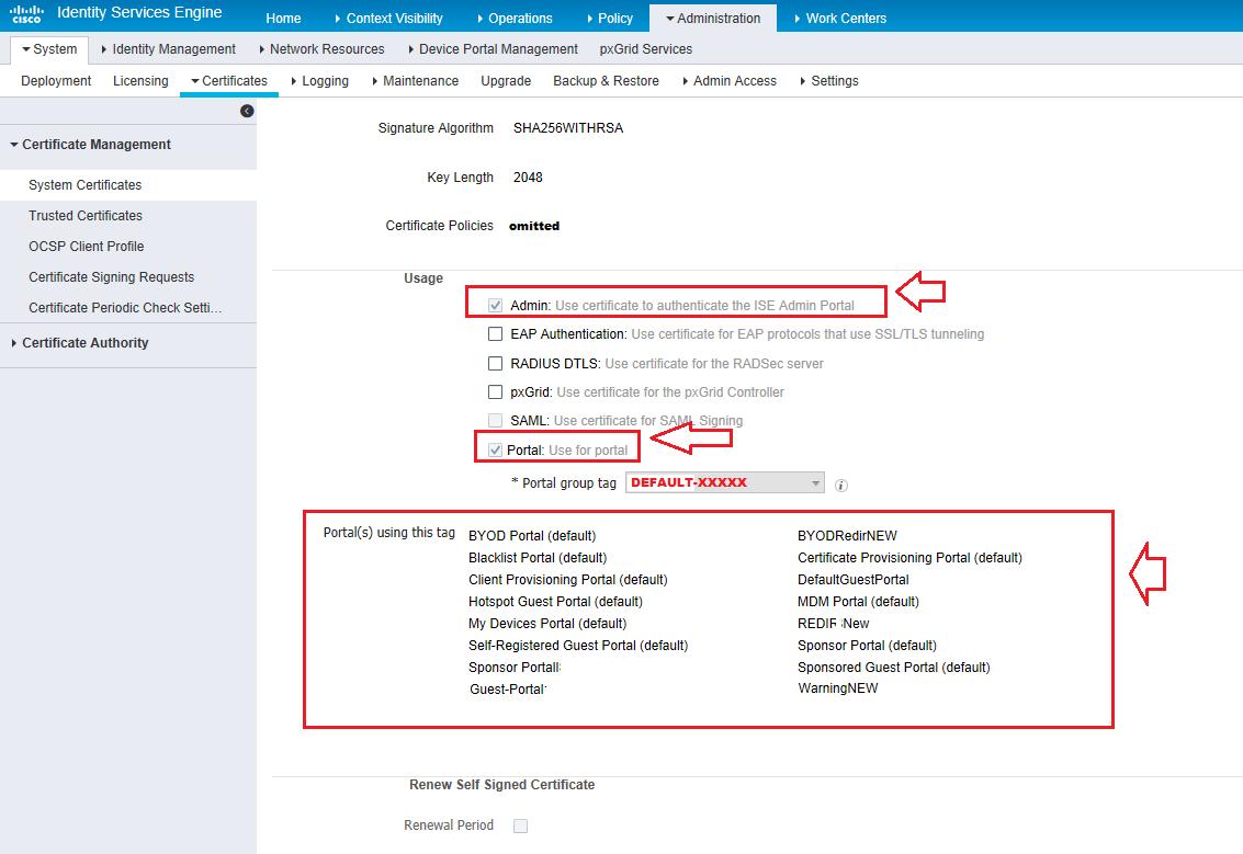 Solved: ISE 2 1 guest portal - certificate requ    - Cisco Community
