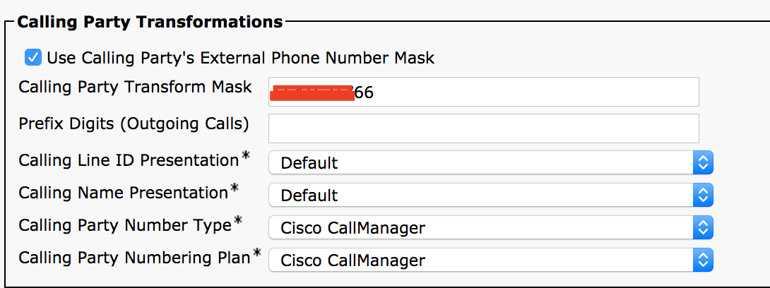 Solved: Display number in outgoing call - Cisco Community