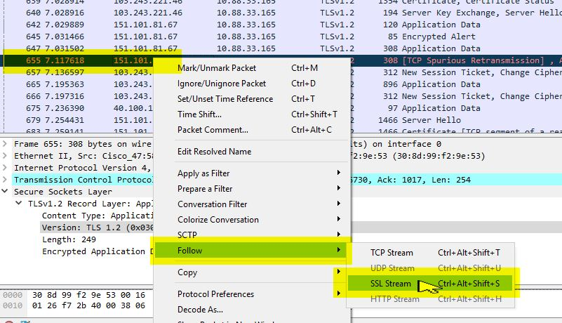 Troubleshoot TLS using wireshark - Cisco Community