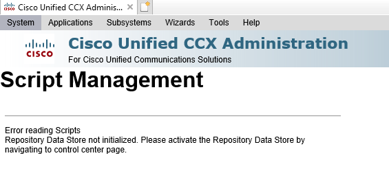 UCCX 8 Partial Services and Data Store     - Cisco Community
