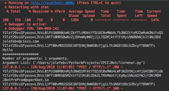 A simple webex teams webhook in Python - Cisco Community