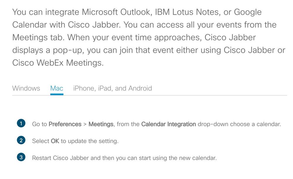 Solved: Jabber - Meetings TAB missing - Cisco Community