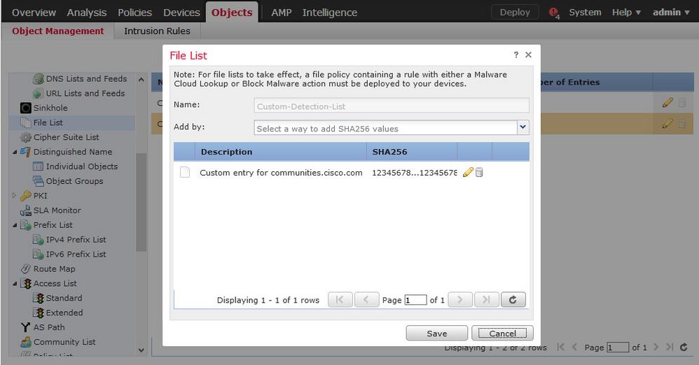 Solved: Blocking hash on cisco FMC - Cisco Community