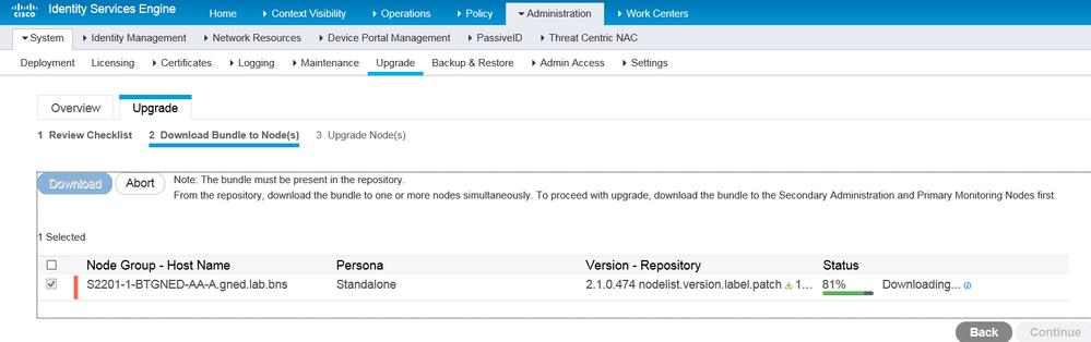 ISE upgrade-download bundle.PNG