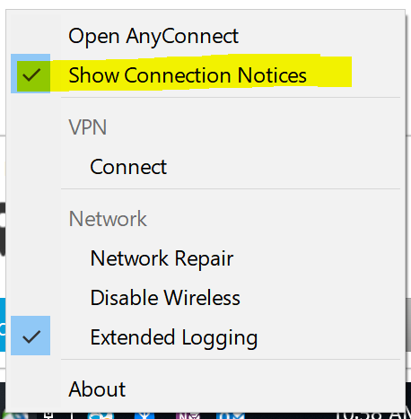 Solved: How to hide connection window and