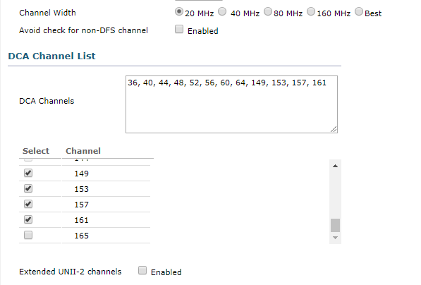 Force channel assignment - Radar proble    - Cisco Community