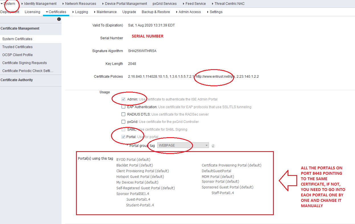 ISE Portal not working after new Certif    - Cisco Community