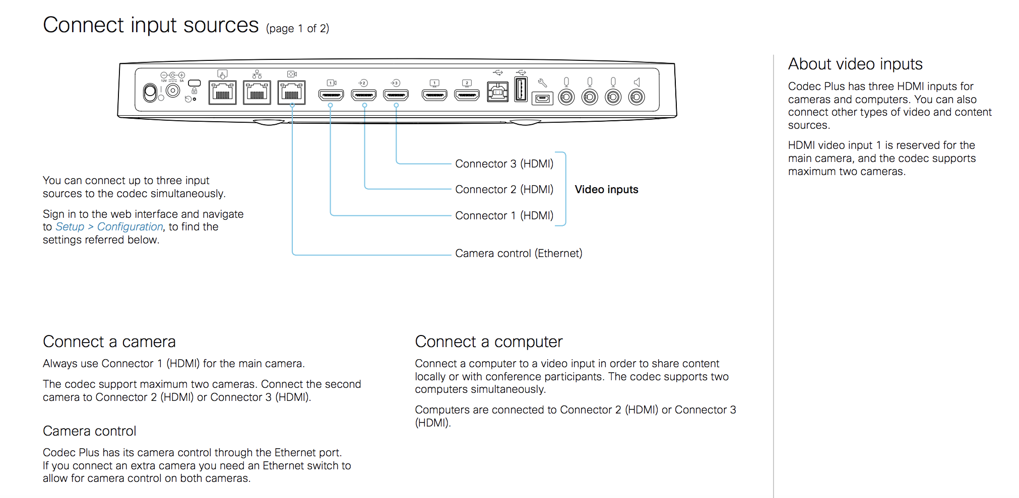 Does Room Kit Plus support 2 cameras? - Cisco Community