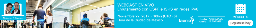 Webcast-OSPF e IS-IS en redes IPv6