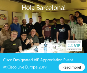 Blog-Cisco Community Designated VIP Dinner CLEUR2019