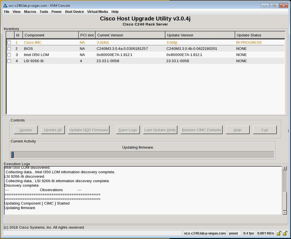 Solved: CIMC Supervisor firmware upgrade times     - Cisco Community