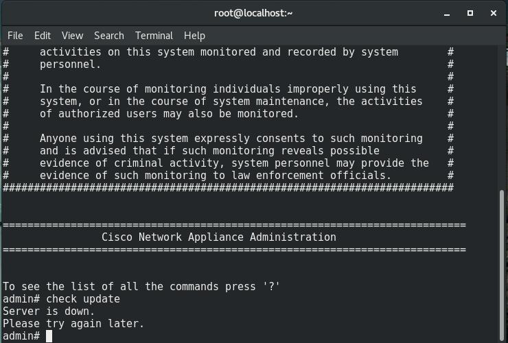 Solved: CSPC 2 6 - Server is down error when tr    - Cisco