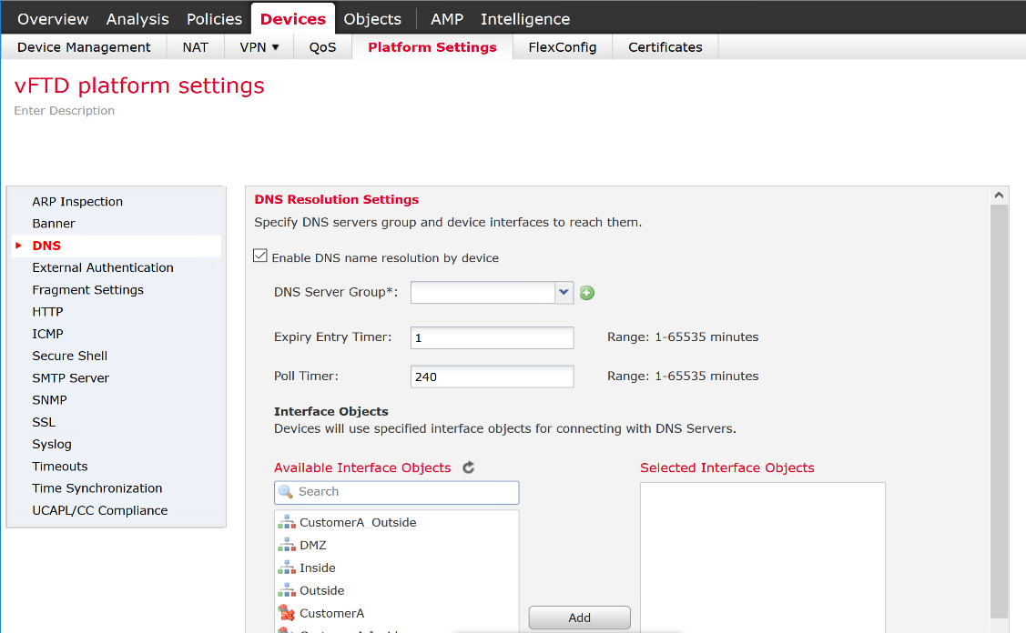 How to change NTP server and DNS on FTD    - Cisco Community