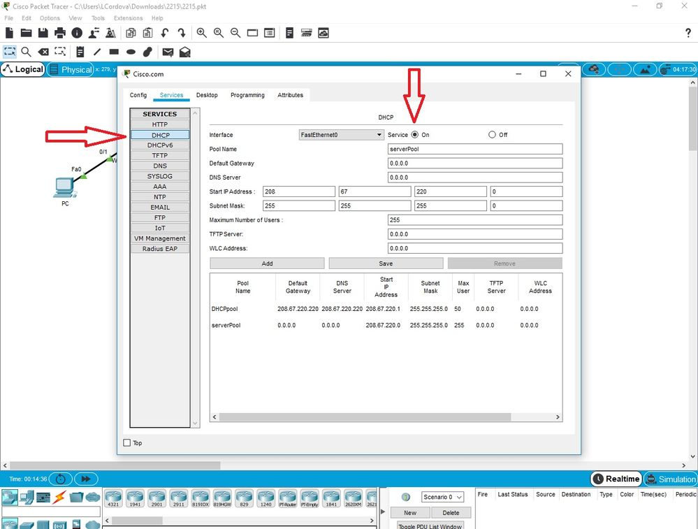 Solved: 2 1 1 5 Packet Tracer - Create a Simple    - Cisco Community