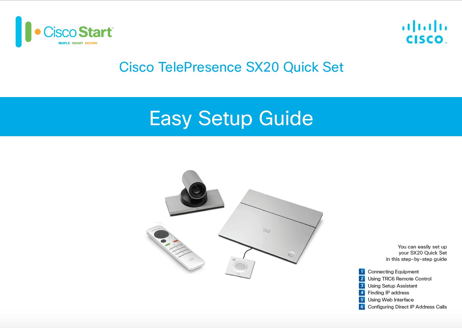 Cisco Telepresence SX20 Quick Setup Gui    - Cisco Community