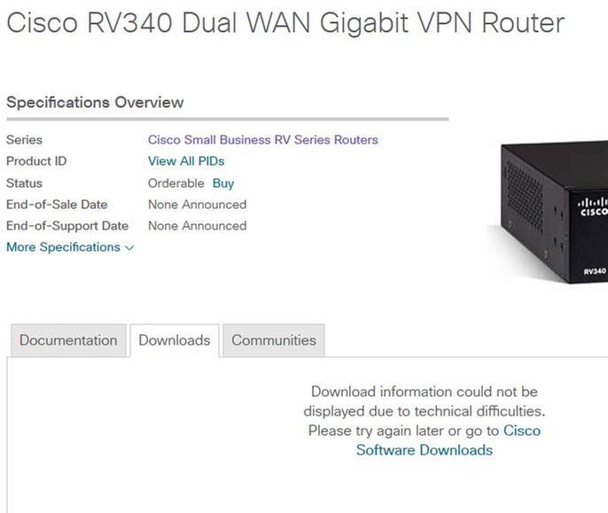 RV340 - Some Webpages will not Load - Cisco Community