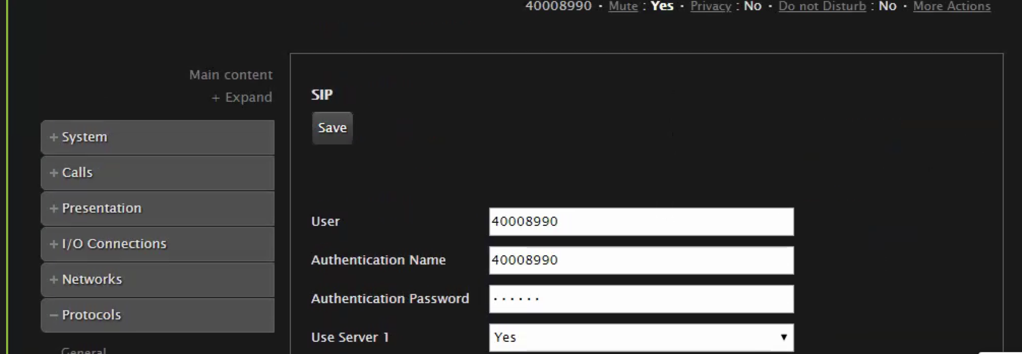 Solved: Cannot register a third party SIP phone    - Cisco Community