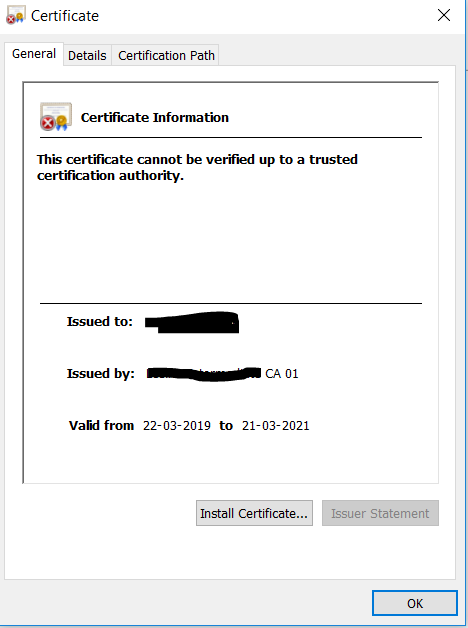Solved: Certificate Validation Failure in IE br    - Cisco