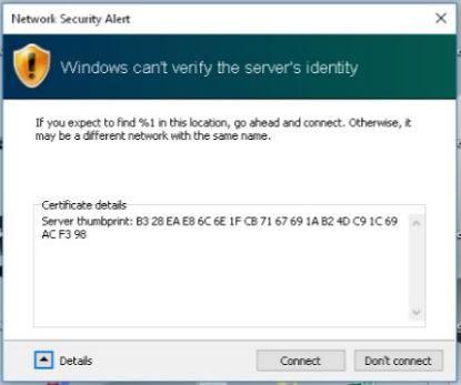802 1x PEAP - Certificate Warning - Cisco Community