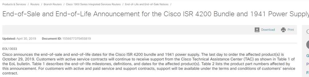 End-of-Sale and End-of-Life Announcemen    - Cisco Community