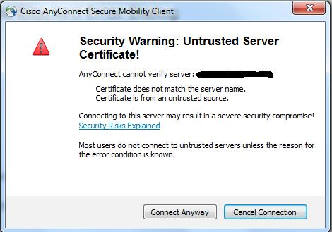 Security Warning : Untrusted Certifica    - Cisco Community
