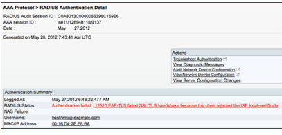 How To Troubleshoot ISE Failed Authenti    - Cisco Community