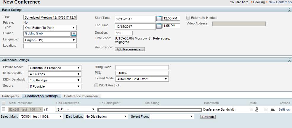 TMS scheduled conference default behavi    - Cisco Community