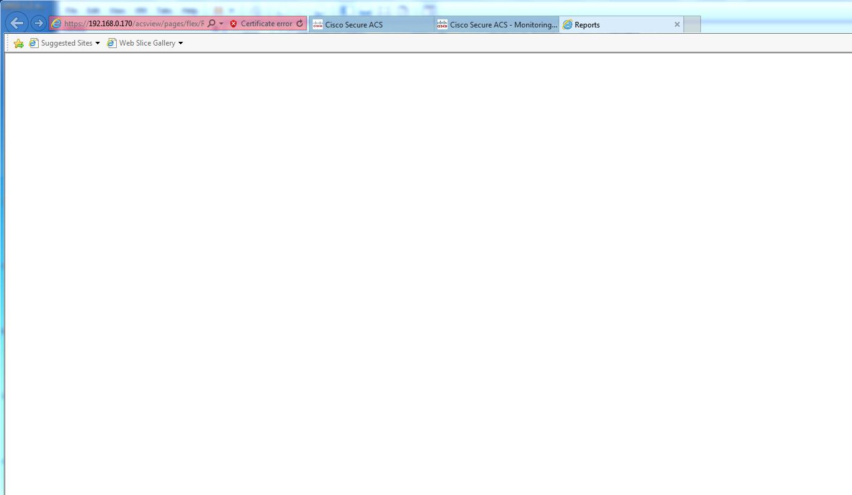 Solved: Cisco ACS server 5 8 0 32 Report blank     - Cisco