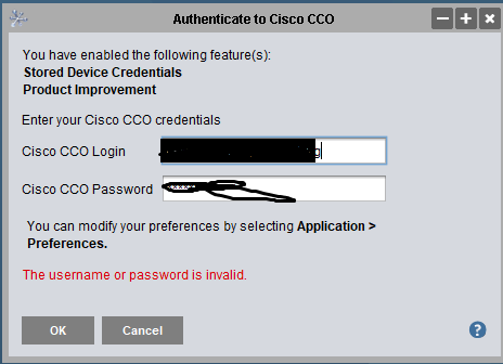 Cisco Network Assistant - CCO login not    - Cisco Community
