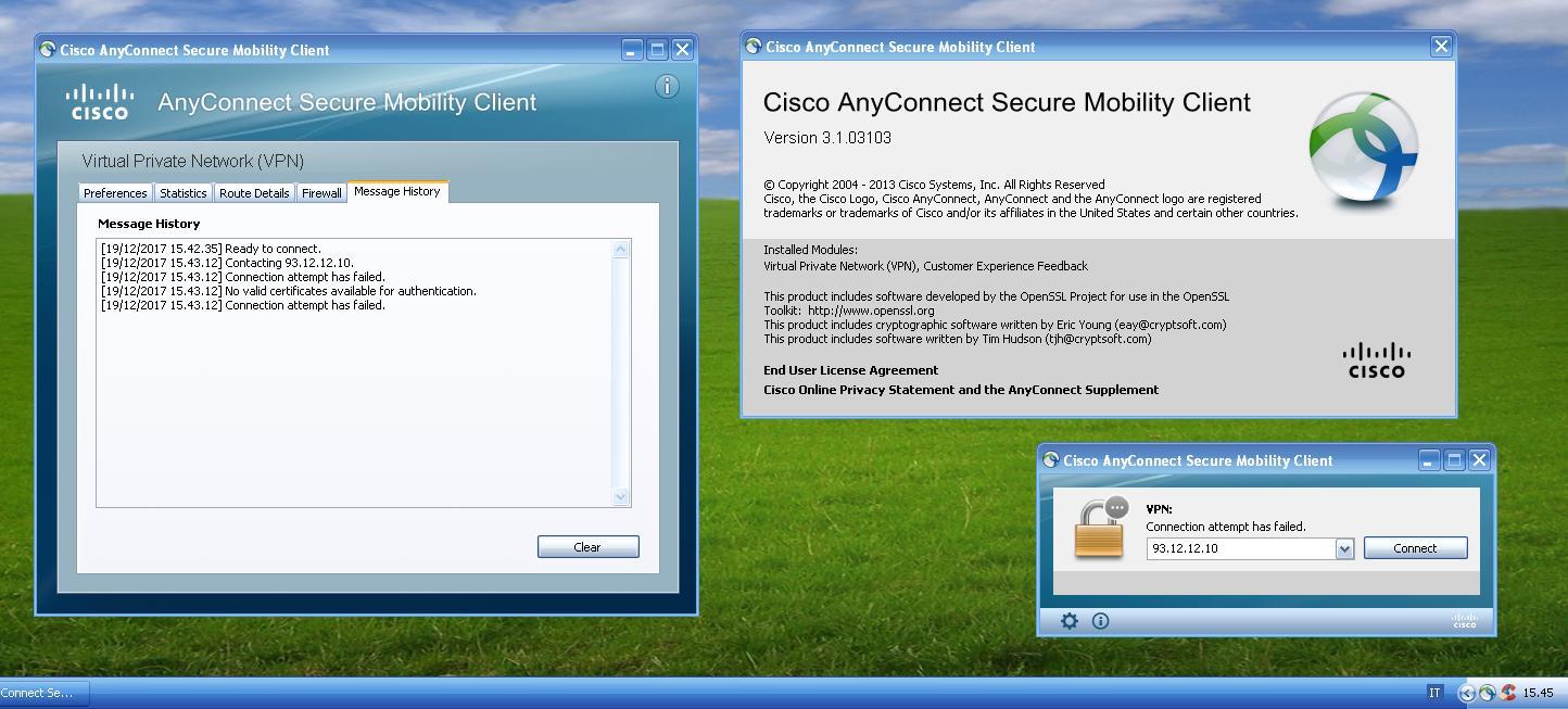 AnyConnect 3 1 03103 on Windows XP SP3:    - Cisco Community