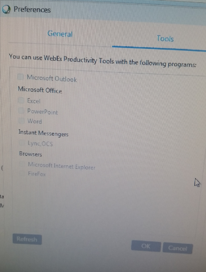 Solved: Webex Productivity Tools Greyed Out - Cisco Community