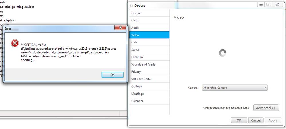 Jabber Video Crash on T470s win7 - Cisco Community