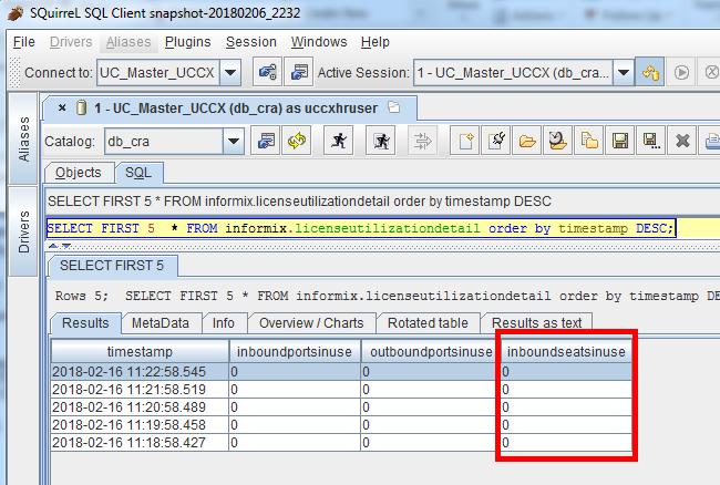 CCX - Remote Informix connection with P    - Cisco Community